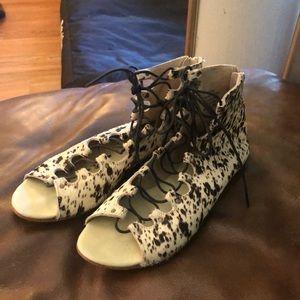Matisse Lace Up Sandals faux fur